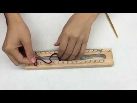 คลิปสอน การเริ่มต้น ถักผ้าพันคอบล้อคไม้ โดย ร้านทวี