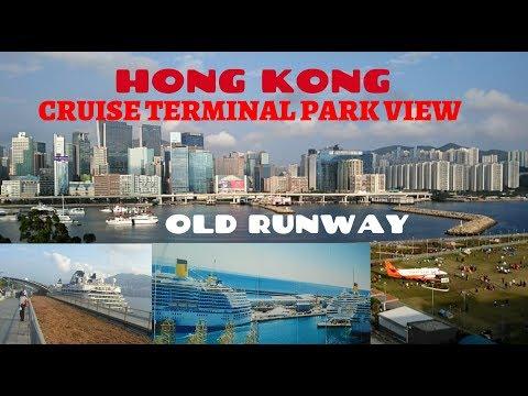 CRUISE SHIP PARK & OLD RUNWAY IN HONG KONG