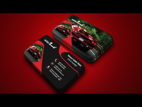 Car Company Business Card Design - Photoshop Tutorial