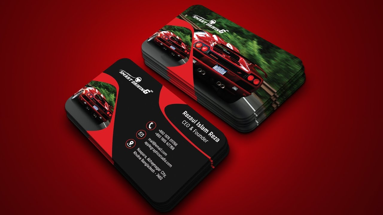 Car company business card design photoshop tutorial youtube car company business card design photoshop tutorial magicingreecefo Images