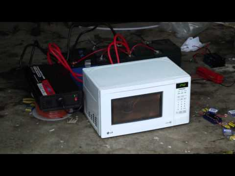 (DIY) 700w microwave test - with - 2500w continuous inverter