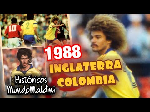 COLOMBIA SE PRESENTÓ AL MUNDO. INGLATERRA vs COLOMBIA 1988. EL TALENTO DE VALDERRAMA. #MundoMaldini