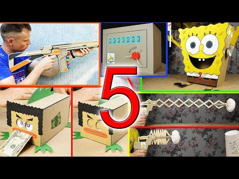 5 Amazing Things for children You Can Do at Home from Cardboard