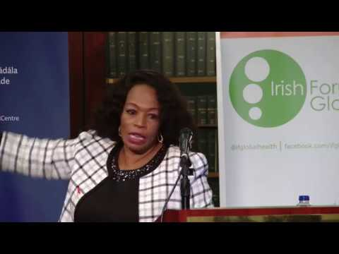 Dr  Chewe Luo addresses the 2017 Irish Aid Prof. Fr. Michael Kelly Lecture on HIV and AIDS