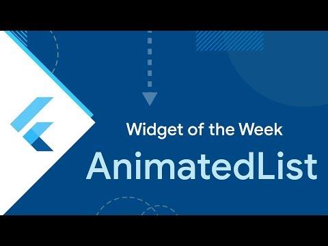 AnimatedList (Flutter Widget of the Week)