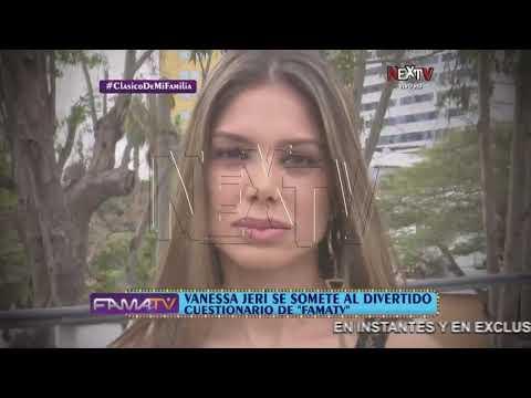 Vanessa Jeri se somete al divertido cuestionario de FamaTV