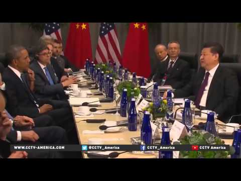 Chinese President ‪Xi Jinping‬ meets with Obama during the Nuclear Security Summit