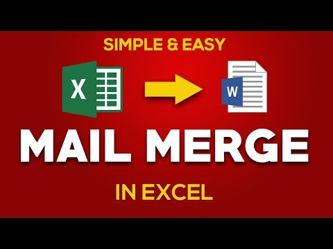Mail Merge In Excel In Hindi: Simple And Easy: 2018