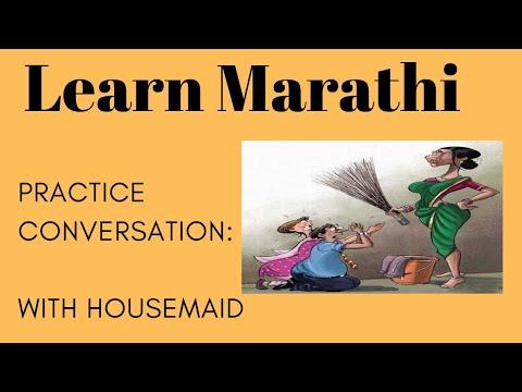 Simple Marathi conversation with housemaid : Learn Marathi