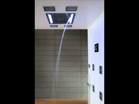 creative rain shower ideas with led lights youtube