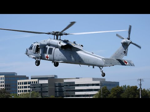 Two Navy MH-60 Seahawks land at San Carlos Airport HeliFest 2011