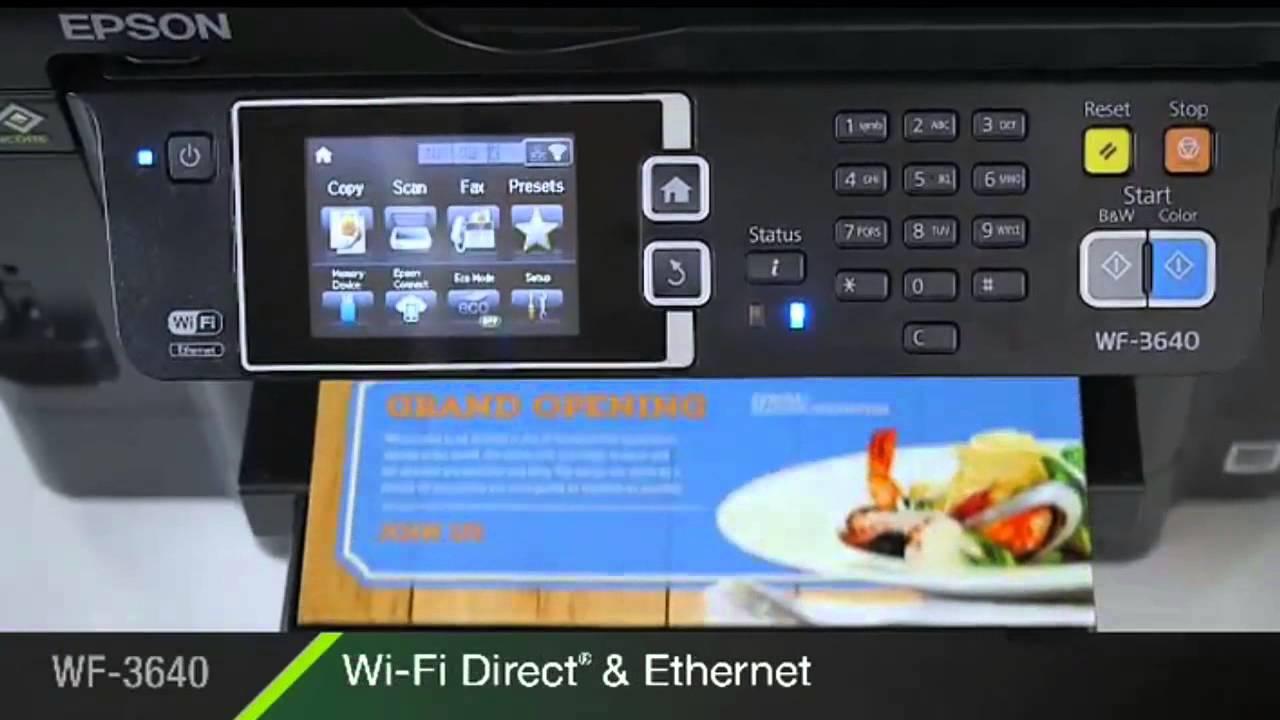 Epson Workforce Wf 3640 Printer Youtube