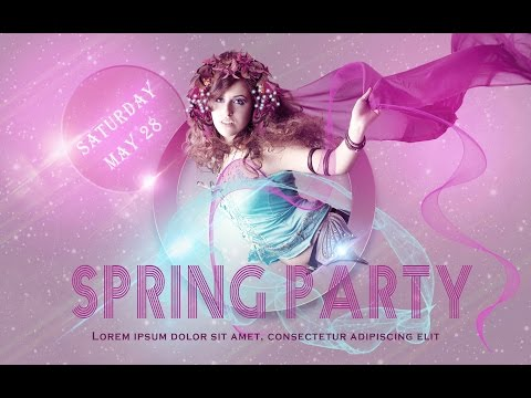 Photoshop Tutorial | How To Design A Party Flyer | Lighting Effects (Bright)