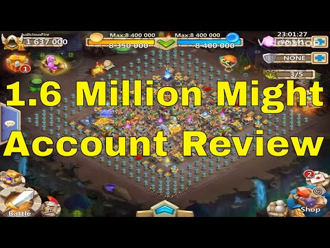Castle Clash 1.6 Million Might Account Review