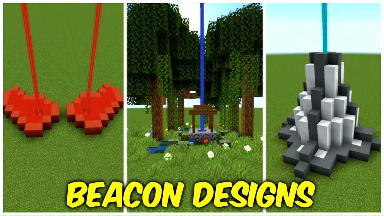 Different Beacons Designs And Build Ideas For Your Minecraft Worlds Youtube