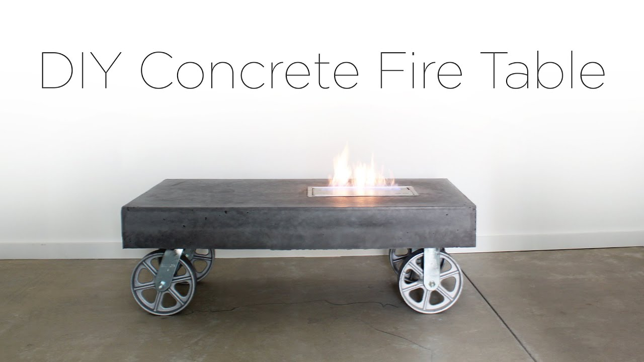 Good DIY Concrete FireTable   YouTube
