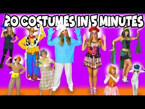 20 Costumes in 5 Minutes for Halloween. Totally TV