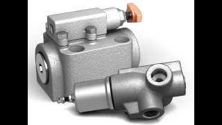 видео гидравлический предохранительный клапан с регулировкой давления