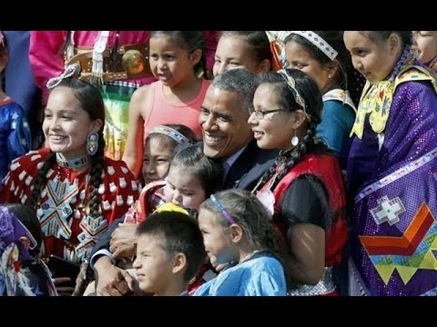 President Obama Visits The Tribe of Sitting Bull (Video June 13, 2014)