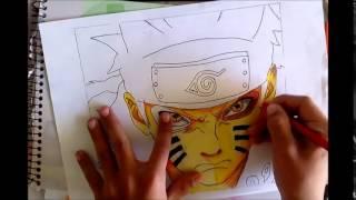 Desenhando Naruto Modo Bijuu (drawing naruto bijuu mode) - BIELODRAWS