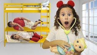 FICAMOS ESCONDIDOS E A VALENTINA  é médica por um dia e salva a bebê