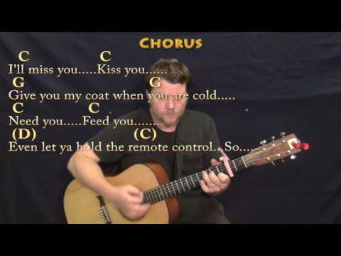 Grow Old With You (Adam Sandler) Guitar Lesson Chord Chart with Chords/Lyrics