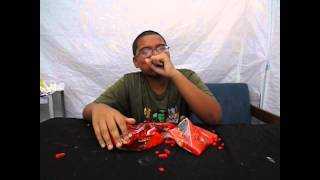 Candy Challenge - Hot Tamales & Red Hots With Mentos And Coke.