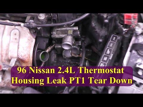 1996 Nissan Altima 2 4l Thermostat Housing Leak Pt1 Tear Down Inspection Youtube