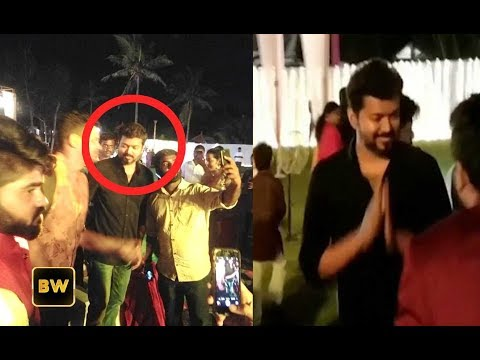 Thalapathy Vijay Attends Marriage in New Look