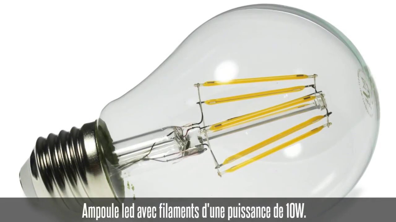 Ampoule Led Puissance Ampoule Led Filament E27 10w Dimmable Blanc Chaud