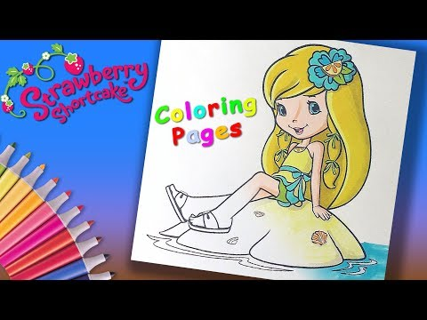 Lemon Meringue Coloring #PageforGirls #LearnColors and #LearnColoring with Strawberry Shortcake