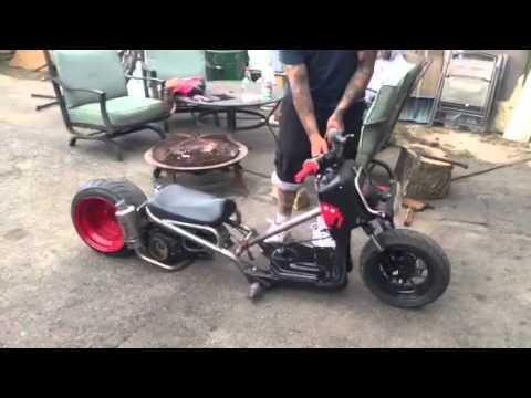 Slam specialties custom tubular frame Honda ruckus build air ride ...