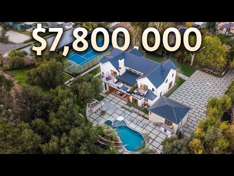 Touring a $7,800,000 Los Angeles MEGA MANSION with a Basketball Court and a Hiking Trail