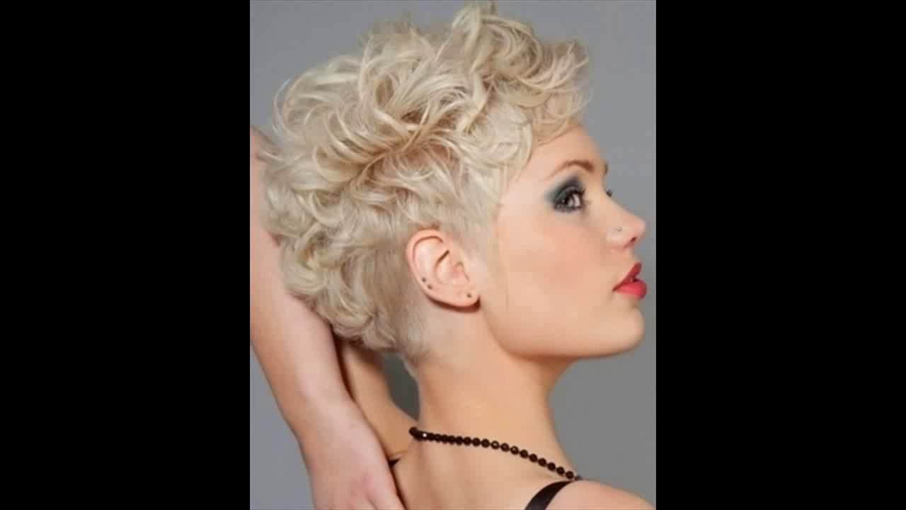Very short curly hairstyles 2017 - YouTube