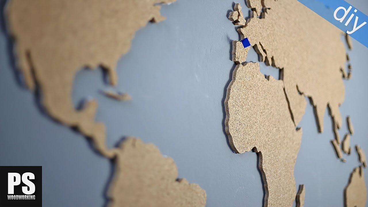 World map cork board gadget flow world map selfadhesive cork cork world map youtube cork world map gumiabroncs Gallery