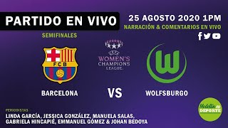 #womenschampionsleague a la 1 pm en vivo llegan las esperadas semifinales de champions league femenina entre wolfsburgo y barcelona desde el estadio san m...