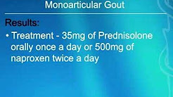 Prednisolone and Naproxen Both Work for Pain Relief in Acute Gout