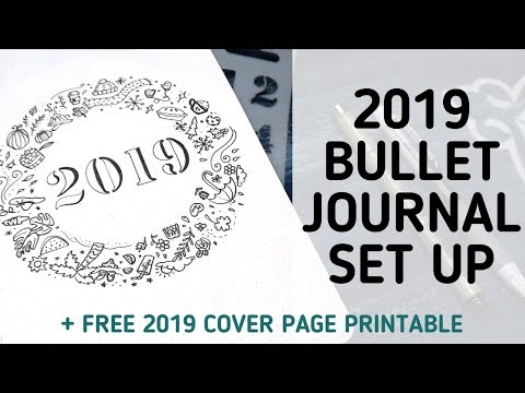 PLAN WITH ME! 2019 Bullet Journal Set Up