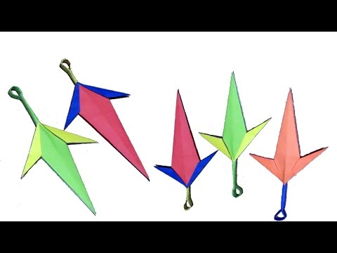 How to make a Paper Kunai Knife -   EASY Origami Kunai Knives 💌 Paper Factor 💌