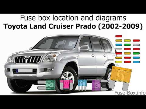 Fuse box location and diagrams Toyota Land Cruiser Prado 120 (2002