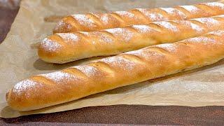 Домашни франзели хрупкава коричка нежна средичка и лесна рецепта Французский багет дома