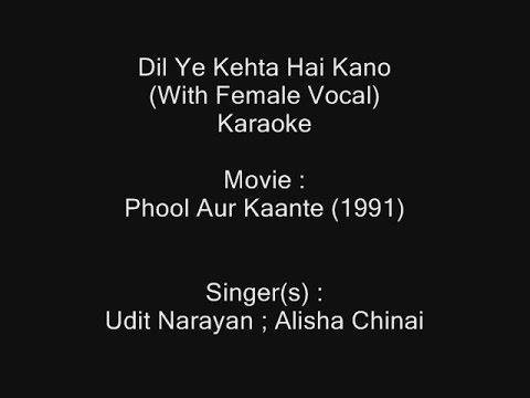 Dil Ye Kehta Hai Kano Mein Tere (I Love You) - Karaoke - (With Female Vocal) - Phool Aur Kaante