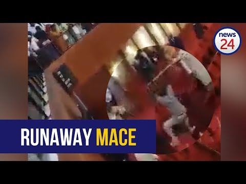WATCH: Men steal ceremonial mace from Nigeria's National Assembly