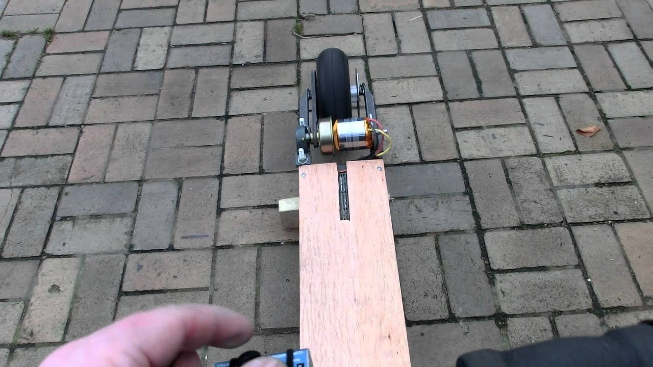 Diy 10kw Electric Scooter Made From Stuff Lying Around