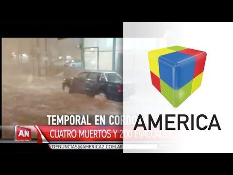 Una beba y dos hombres murieron por el fuerte temporal en Córdoba