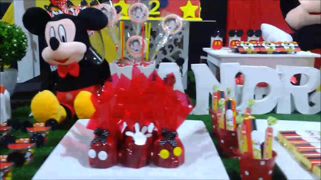 Decoraciones Con Globos Para Fiestas Infantiles De Mickey Mouse