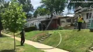 Speeding SUV crashes into roof of St. Louis home in Missouri