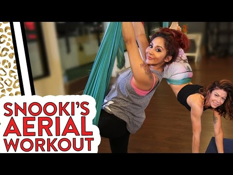 Snooki Does an Aerial Workout with KymNonStop!
