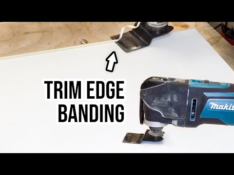 Trim Edge Banding with OSCILLATING TOOL
