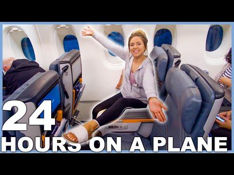 I spent 24 Hours on a plane! 30 hour travel vlog!